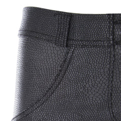 WR.UP® Regular Waist Faux Snakeskin Black (N)
