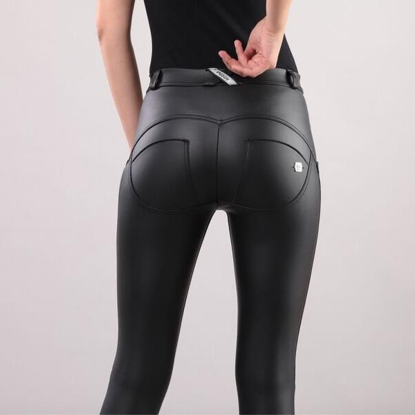 WR.UP® Regular Waist Eco Leather Black (N)