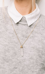 Long Quartz Necklace