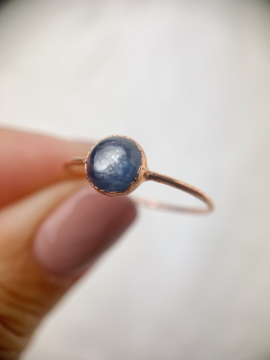 Round Kyanite Ring