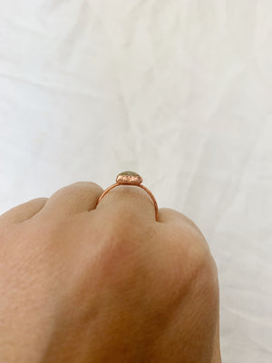 Triangle Citrine Ring