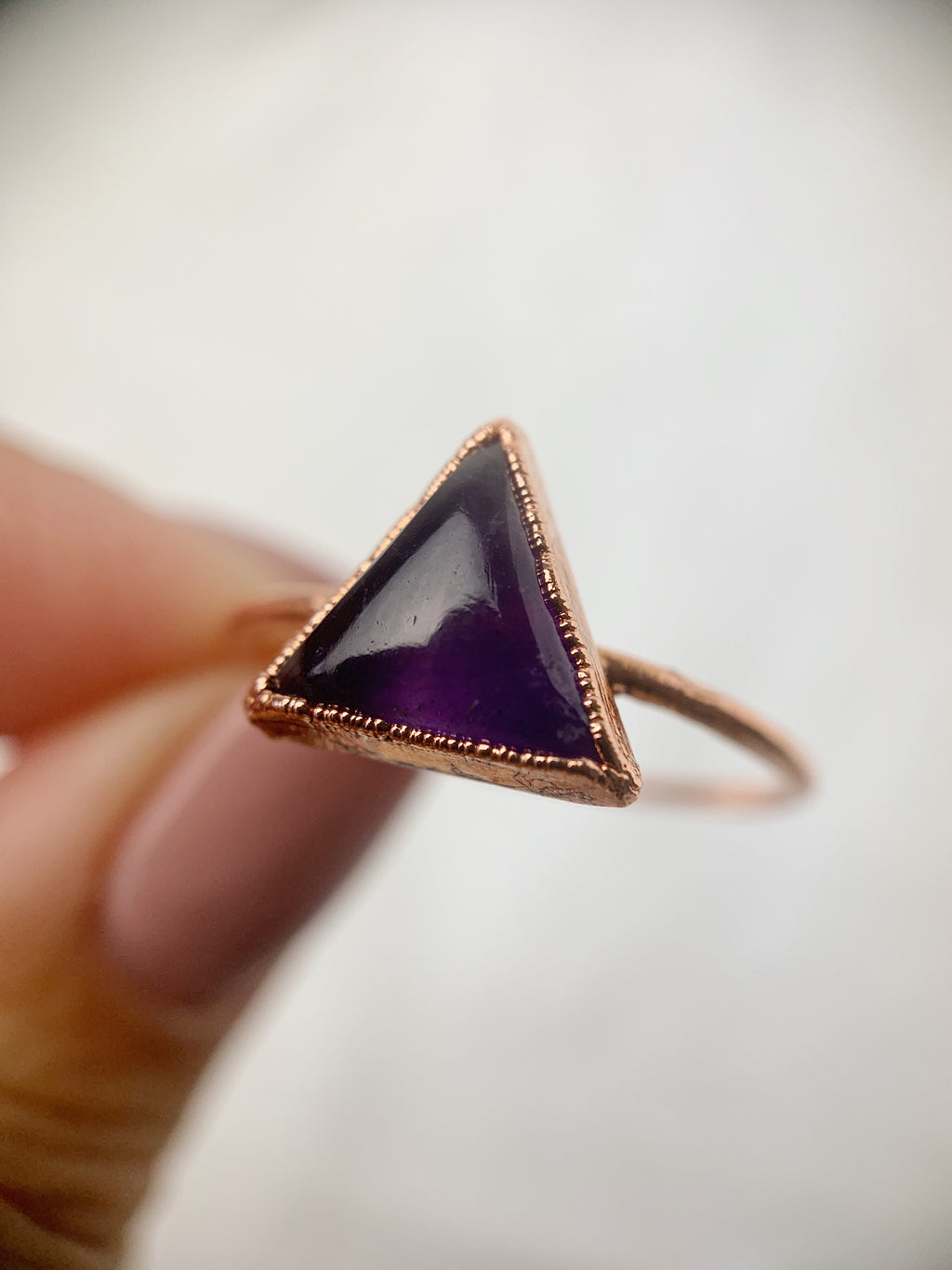 Triangle Amethyst Ring