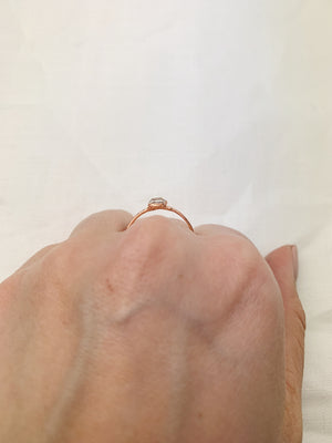 Horizontal Herkimer Diamond Ring