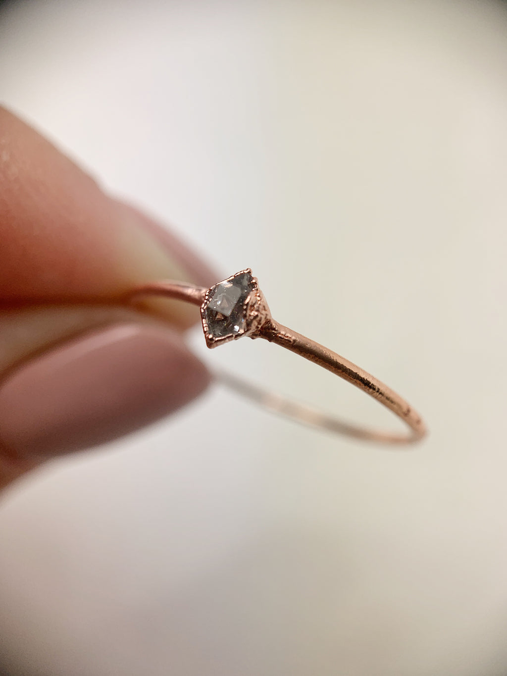 Vertical Herkimer Diamond Ring