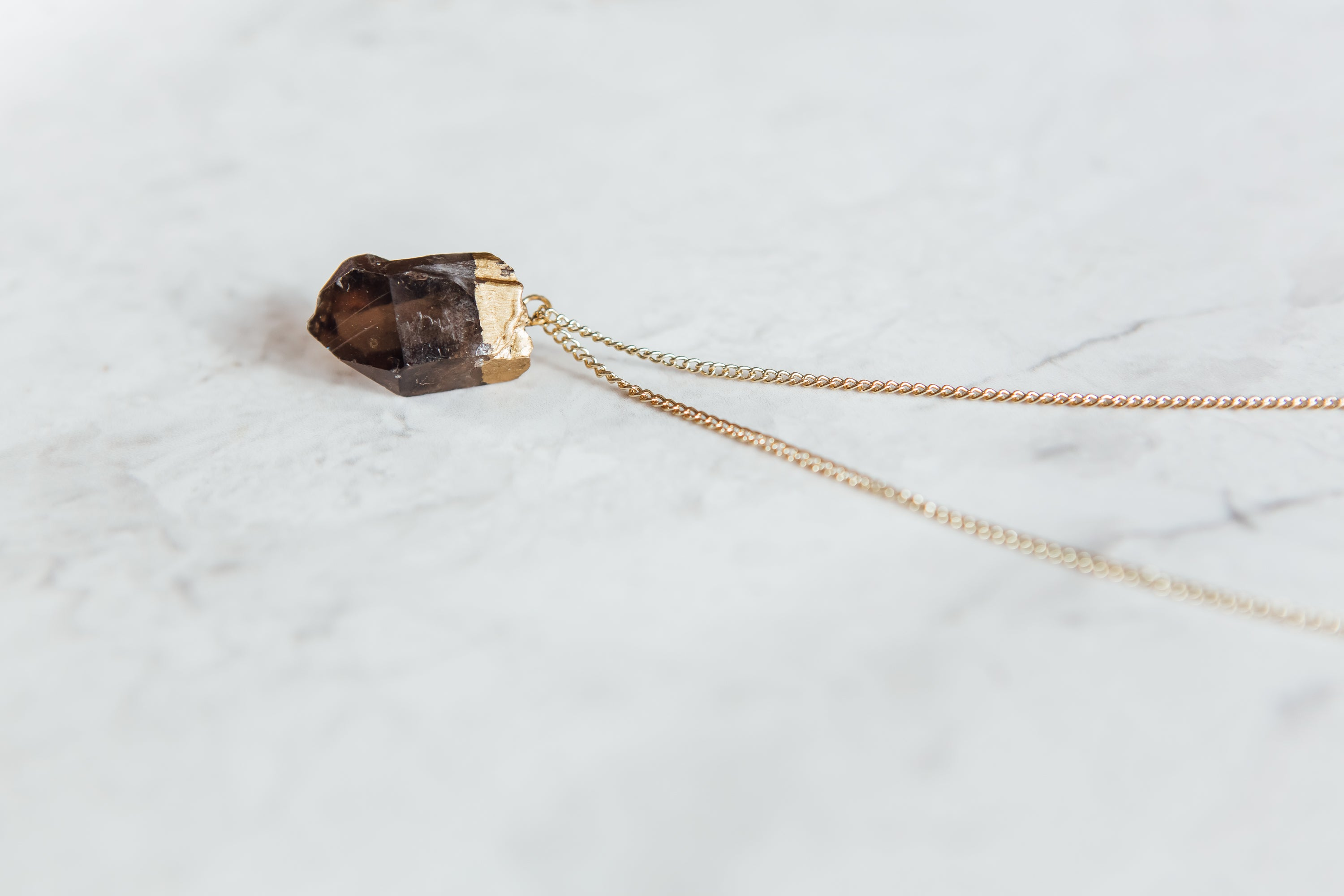 Small Smokey Quartz Necklace