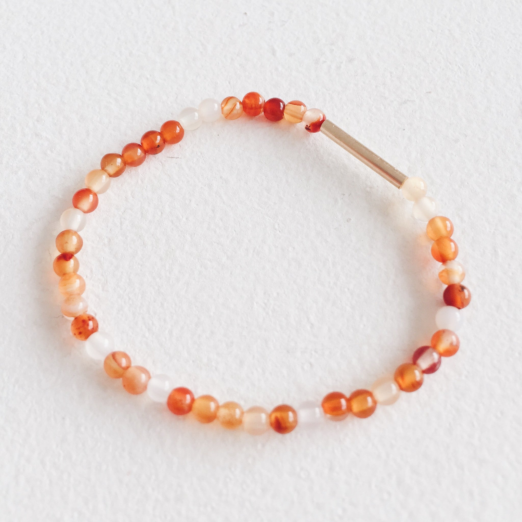 9ct Gold and Carnelian Bracelet
