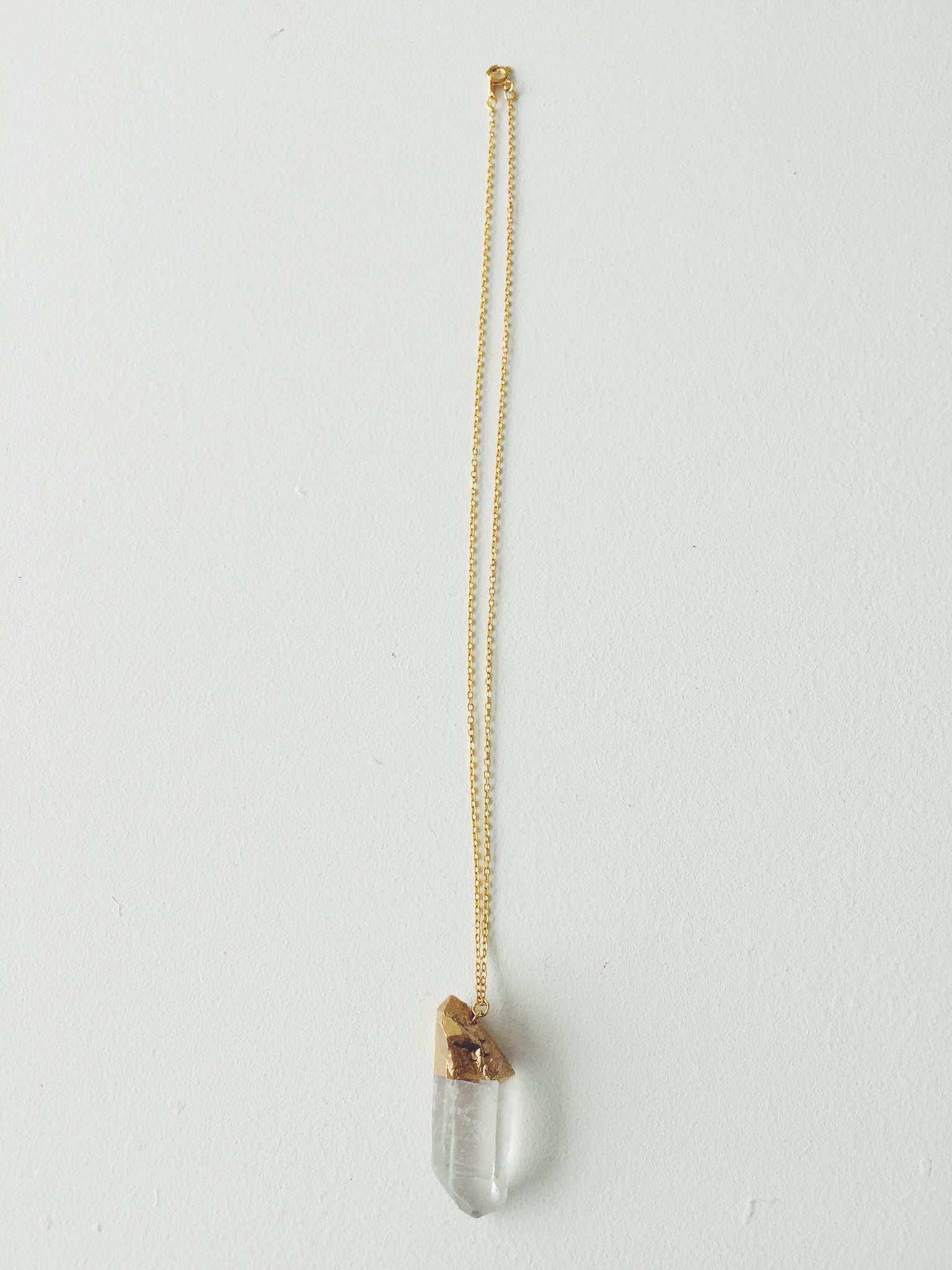 Medium Gold Quartz Necklace