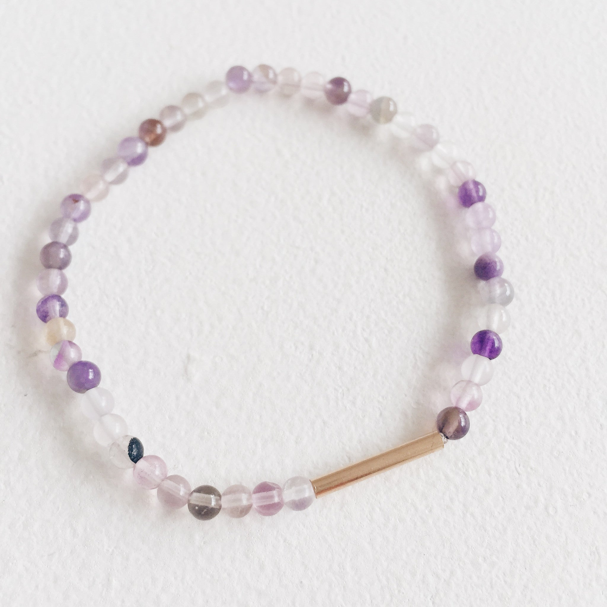 9ct Gold and Purple Fluorite Bracelet