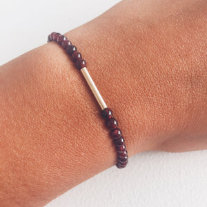 9ct Gold and Garnet Bracelet