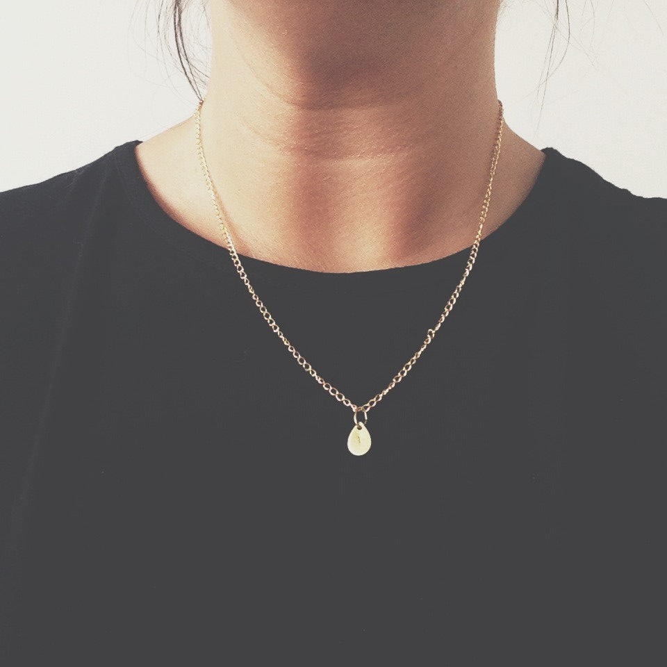Teardrop Brass Necklace