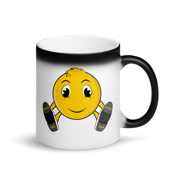 Tap Star Emoji Matte Black Magic Mug