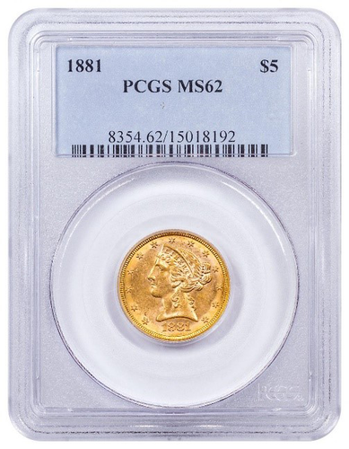 1881 Liberty MS-62 Gold