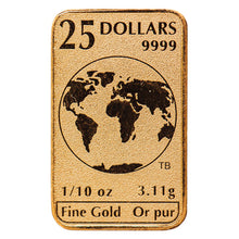 Load image into Gallery viewer, 1/10oz Gold - Legal Tender Bar (10x.10)