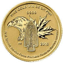 Load image into Gallery viewer, The Hero of Two Nations  - 1/10 oz Gold Coin