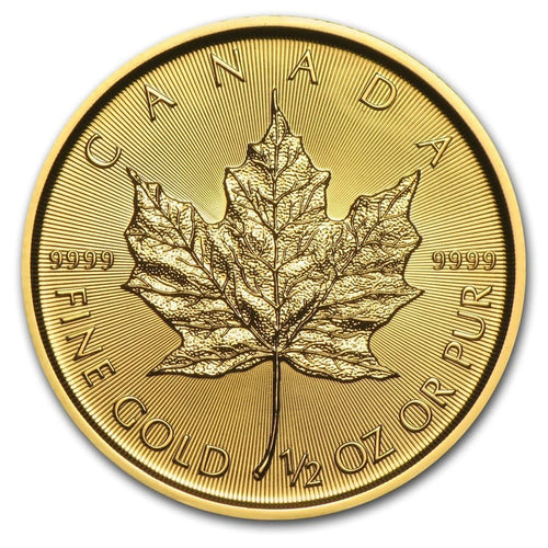 Canadian Gold Maple Leaf 1/2 oz