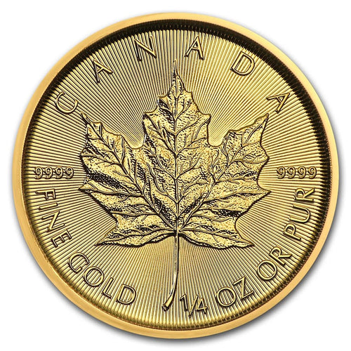 Canadian Gold Maple Leaf 1/4 oz