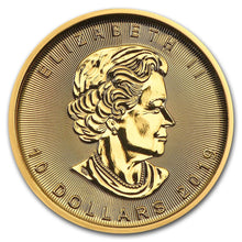 Load image into Gallery viewer, Canadian Gold Maple Leaf 1/4 oz
