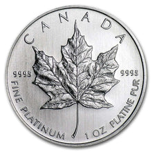 Load image into Gallery viewer, Canadian Platinum Maple Leaf 1 oz