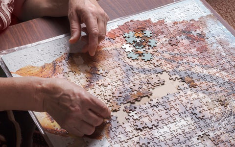 Place puzzle at comfortable place