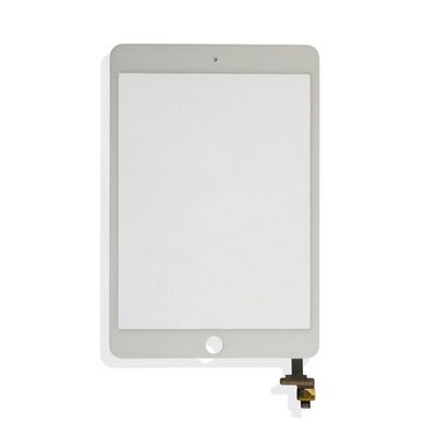 iPad Mini 3 (Quality Aftermarket) Digitizer without Home Button - White