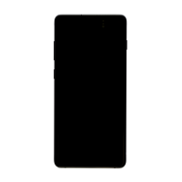 Samsung S10 Plus (with Frame) Replacement Part - Black