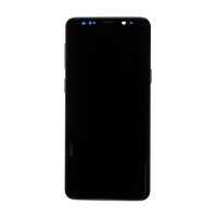 Samsung S9 (with Frame) Replacement Part - Black (NO LOGO)