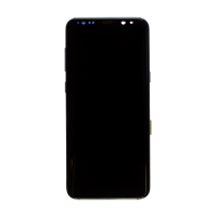 Samsung S8 Plus (with Frame) Replacement Part - Black (No Logo)
