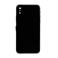 iPhone X Back Housing with Small Parts - Black (NO LOGO)