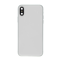 iPhone XS Back Housing with Small Part Replacement Part - White (NO LOGO)