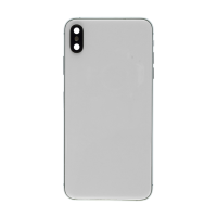 iPhone XS Max Back Housing with Small Part Replacement Part - White (NO LOGO)