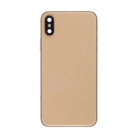 iPhone XS Back Housing with Small Part Replacement Part - Gold (NO LOGO)