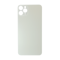 iPhone 11 Pro Max Rear Glass Back Cover Replacement - White (Big Hole, Generic)