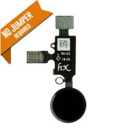 YF Home Button Flex Cable (3rd Gen) w/ return function - Black (for iPhone 7 / 7+ / 8 / 8+)