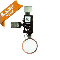 YF Home Button Flex Cable (3rd Gen) w/ return function - Gold (for iPhone 7 / 7+ / 8 / 8+)