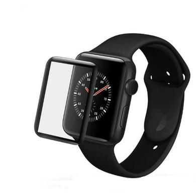 Apple Watch Series 1/2/3 42mm Tempered Glass - Black - (without Packaging) Screen Protector