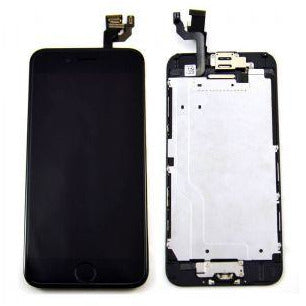 iPhone 6 with Home Button Black, Small Parts (Quality Aftermarket) Replacement - Black