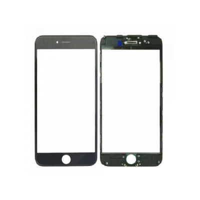 iPhone 6 Front Glass with Frame - Black