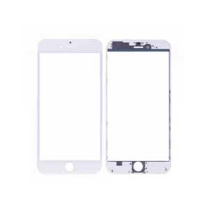 iPhone 6 Front Glass with Frame - White