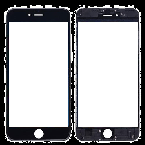 iPhone 6S Plus Front Glass with Frame - Black