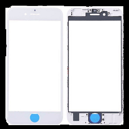 iPhone 6S Plus Front Glass with Frame - White