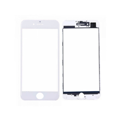 iPhone 7 Front Glass with Frame - White