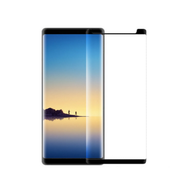 Samsung Note 8 Tempered Glass - Black - (without Packaging) Screen Protector