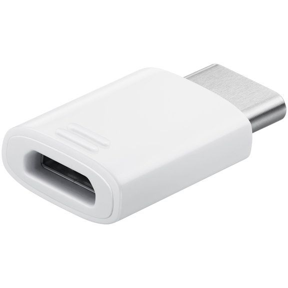Samsung S8/S8 Plus Micro USB to Type C Adapter - White