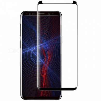 Samsung S8 Plus Tempered Glass - Black - (without Packaging) Screen Protector