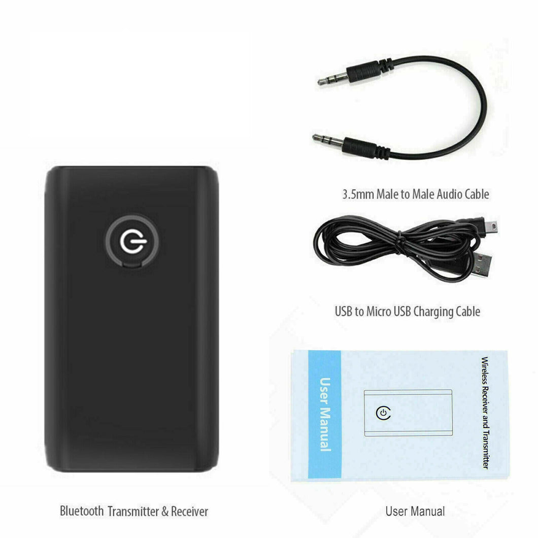 Bluetooth Transmitter - Use with Wireless Headphones or Any Bluetooth Device! - Battery Headphone Jack Version
