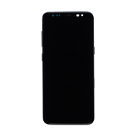 Samsung S8 (with Frame) Replacement Part - Silver (NO LOGO)