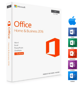 Microsoft Office Home and Business 2016 Mac - Instant Delivery - Original Key! - Digibeyk