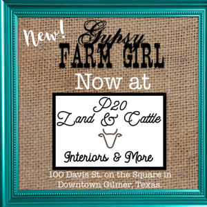 GypsyFarmGirl Now at P20 on the Square in Downtown Gilmer and other news!