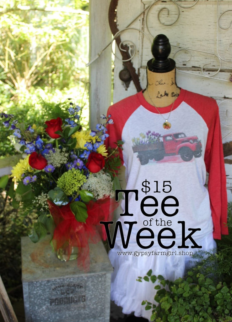 New Tee of the Week: Red Flower Truck Tee