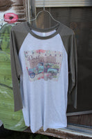 Vintage Flower truck with Rust and Romance Graphic Tee Shirt
